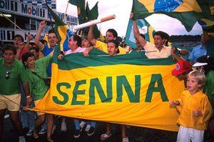 Fans of Ayrton Senna
