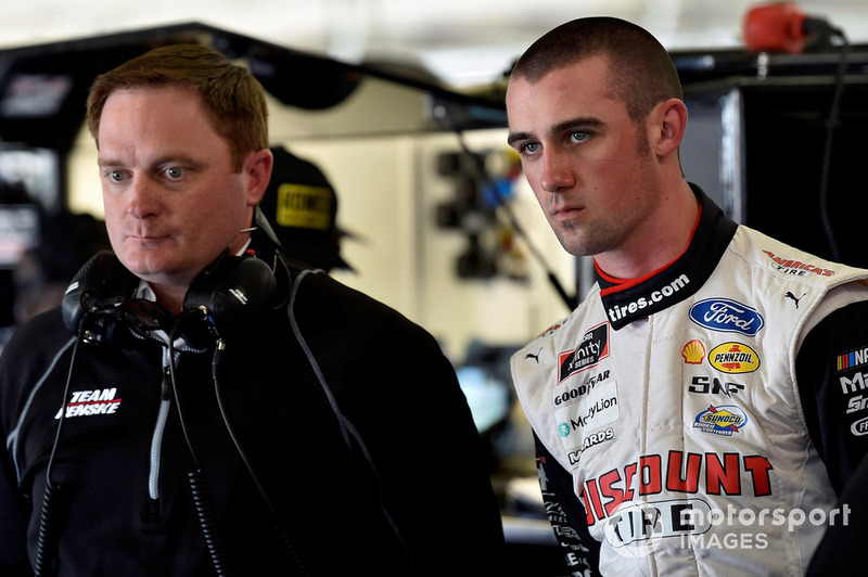 Austin Cindric, Team Penske, Ford Mustang Discount Tire and Robby Benton
