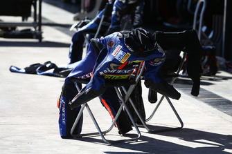 Sandro Cortese, Kallio Racing leathers drying out