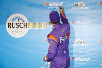 Denny Hamlin, Joe Gibbs Racing, Toyota Camry FedEx Express, pole award