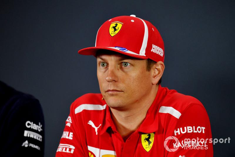 Kimi Raikkonen, Ferrari, en conférence de presse