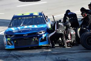 Regan Smith, Leavine Family Racing, Chevrolet Camaro WRL General Contractors, makes a pit stop