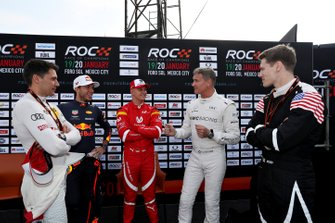 Loic Duval, Pierre Gasly, Mick Schumacher, David Coulthard and Josef Newgarden