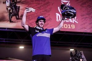 Podium: #18 Yamaha Official Rally Team: Xavier De Soultrait