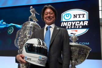 Anuncio del patrocinador NTT IndyCar 2019 con Tsunehisa Okuno, NTT vicepresidente ejecutivo, jefe de negocios globales