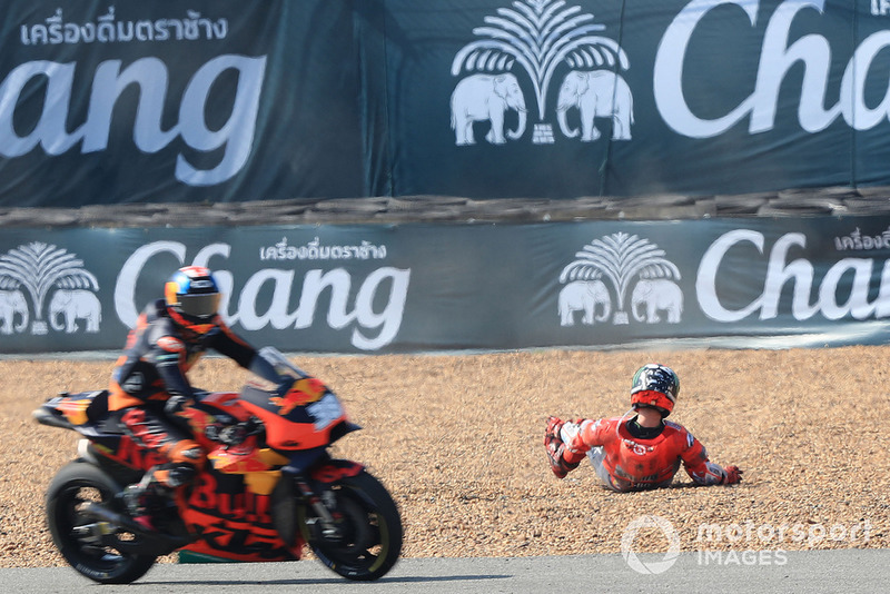 Jorge Lorenzo, Ducati Team, dopo l'incidente