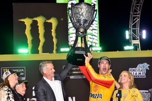 Joey Logano, Team Penske, Ford Fusion Shell Pennzoil celebrates in victory lane after winning the championship