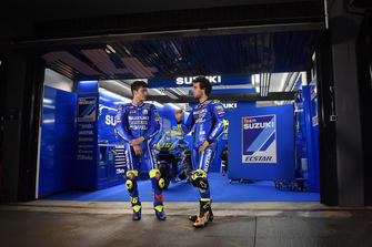 Joan Mir et Alex Rins, Suzuki Ecstar MotoGP avant les essais privés