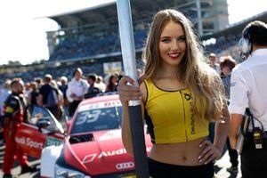 Grid girl van René Rast, Audi Sport Team Rosberg