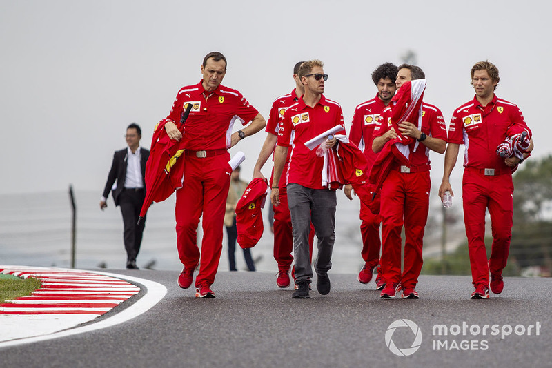 Sebastian Vettel, Ferrari on track walk