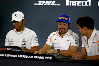 Lewis Hamilton, Mercedes AMG F1, Fernando Alonso, McLaren and Lando Norris, McLaren in the press conference