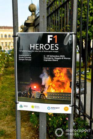 F1 Heroes poster at Villa Reale di Monza
