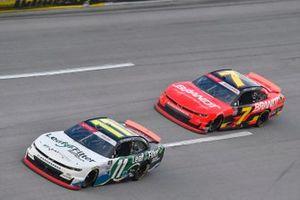 Justin Haley, Kaulig Racing, Chevrolet Camaro LeafFilter Gutter Protection and Justin Allgaier, JR Motorsports, Chevrolet Camaro BRANDT