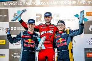 Podium : Le vainqueur Niclas Grönholm, GRX-SET World RX Team Hyundai i20, le deuxième Kevin Hansen, Hansen World RX Team Peugeot 208, le troisième Kevin Hansen, Hansen World RX Team Peugeot 208
