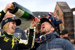 Mikaela Ahlin-Kottulinsky, JBXE Extreme-E Team, 2nd position, with Jenson Button, JBXE Extreme-E Team