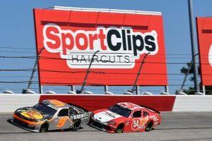 Noah Gragson, JR Motorsports, Chevrolet Camaro Bass Pros Shops/TrueTimber/BRCC, Denny Hamlin, Joe Gibbs Racing, Toyota Supra SportClips Haircuts