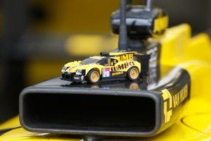 Une voiture en Lego sur la #29 Racing Team Nederland Oreca 07 - Gibson LMP2, Frits Van Eerd, Giedo Van Der Garde, Job Van Uitert