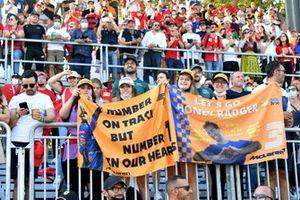 Fan support for Daniel Ricciardo, McLaren