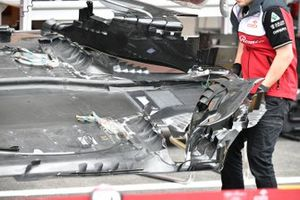 Detalle del piso del Alfa Romeo Racing C41