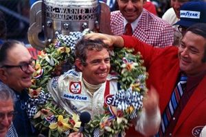 Gordon Johncock celebrating his victory