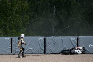 Caída de Alessandro Delbianco, MIE Racing Honda Racing