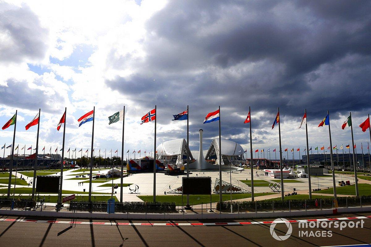 Edifici olimpici all'interno del circuito