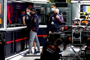 Sergio Perez, Red Bull Racing in the garage