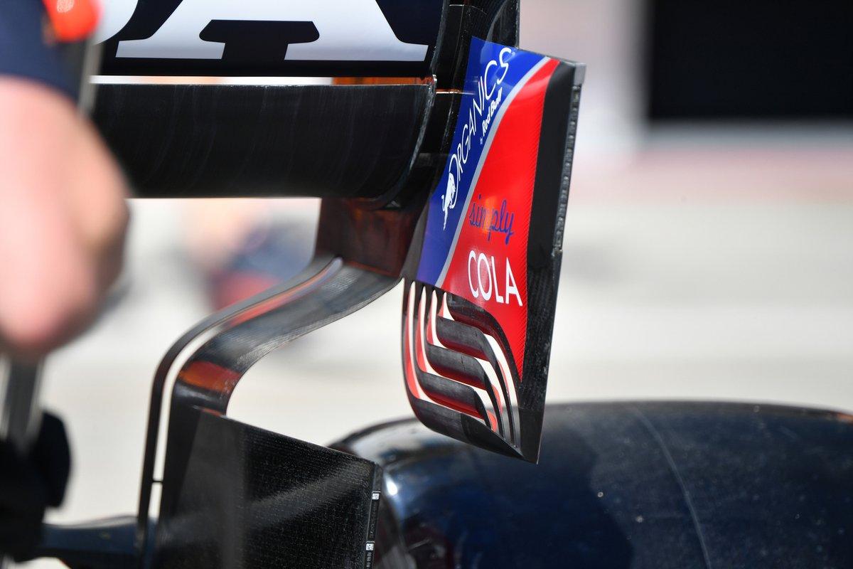 Detalle trasero del Red Bull RB16B