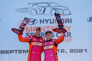 P2 Podium: #52 PR1 Mathiasen Motorsports ORECA LMP2 07, LMP2: Ben Keating, Mikkel Jensen