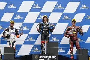 Marco Bezzecchi, Sky Racing Team VR46, Aron Canet, Aspar Team, Augusto Fernandez, Marc VDS Racing Team podium race