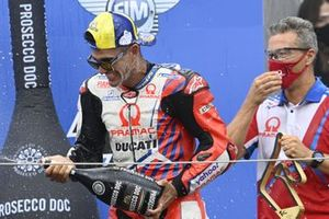1. Jorge Martin, Pramac Racing, mit Francesco Guidotti