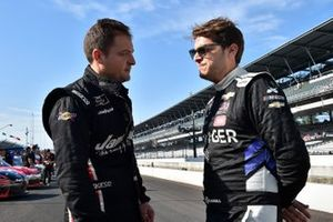 Ryan Sieg, RSS Racing, Ford Mustang CMR Construction and Roofing / A-Game and Landon Cassill, JD Motorsports, Chevrolet Camaro Voyager