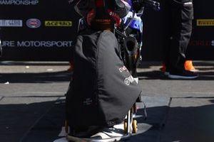 Toprak Razgatlioglu, PATA Yamaha WorldSBK Team rear tyre covered up