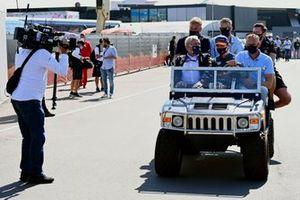 Helmut Marko, consultant, Red Bull Racing, en Max Verstappen, Red Bull Racing
