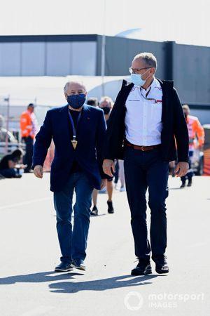 Jean Todt, President, FIA, and Stefano Domenicali, CEO, Formula 1