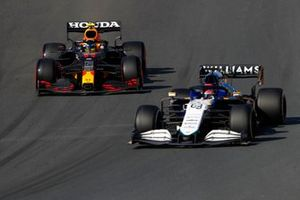 George Russell, Williams FW43B, Sergio Perez, Red Bull Racing RB16B
