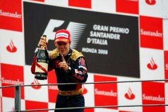 Podium: Race winner Sebastian Vettel, Toro Rosso