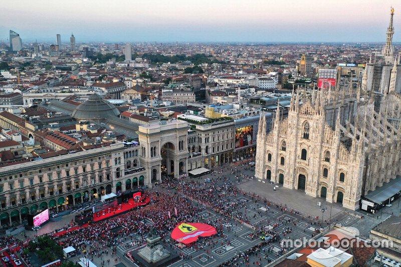 Piazza Duomo vista desde el aire