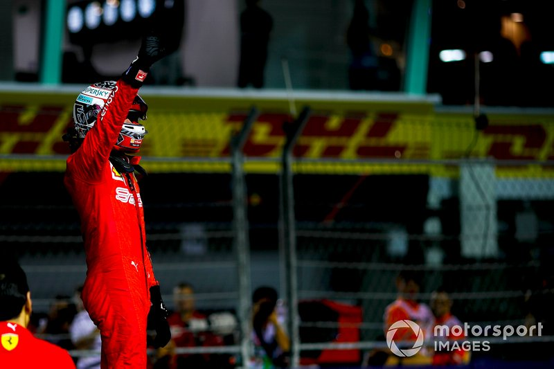 Leclerc takes third straight pole