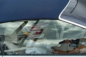 Lewis Hamilton, Mercedes AMG F1 drives Sir Frank Wiliams, Team Principal, Williams Racing around the track