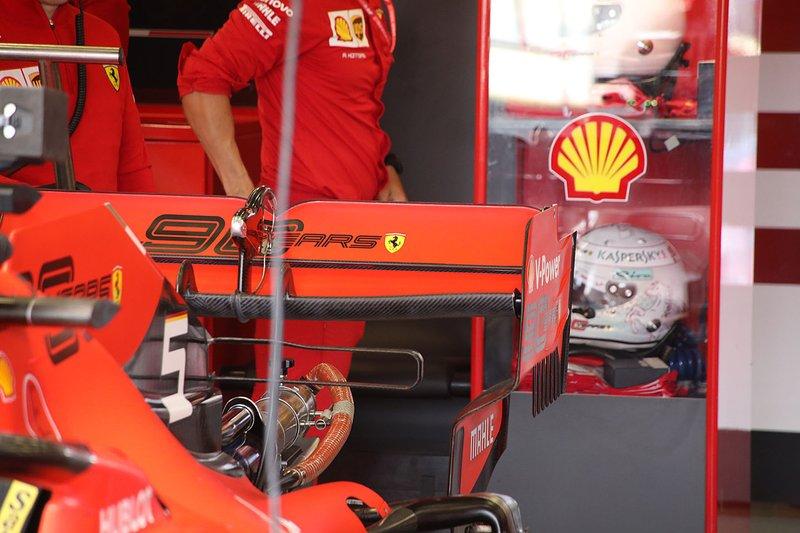 Sebastian Vettel, Ferrari SF90 dettaglio dell'ala posteriore