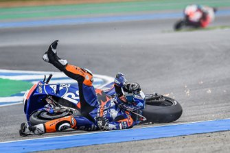 Miguel Oliveira, Red Bull KTM Tech 3, crashes