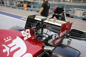Trasera del Alfa Romeo Racing C38