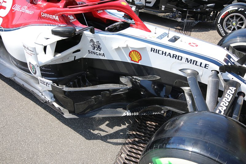 Alfa Romeo Racing C38 sidepods detail