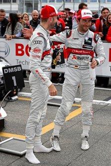Рене Раст, Audi Sport Team Rosberg, и Майк Роккенфеллер, Audi Sport Team Phoenix
