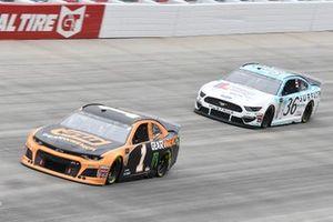 Kurt Busch, Chip Ganassi Racing, Chevrolet Camaro GEARWRENCH, Matt Tifft, Front Row Motorsports, Ford Mustang Delaware Lottery/Surface