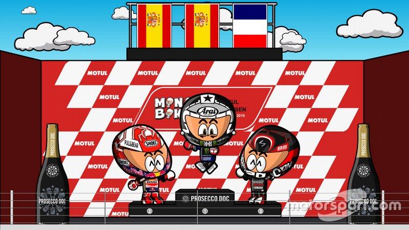 El podio del GP de Holanda de MotoGP 2019, por MiniBikers