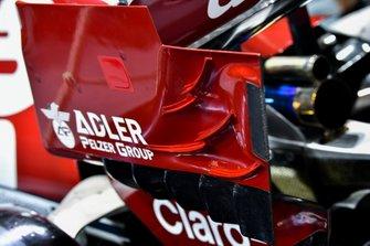 Rear wing aero detail on Alfa Romeo Racing C38