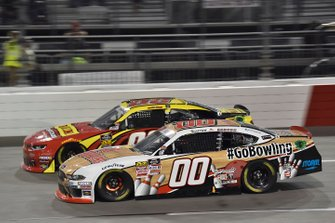 Cole Custer, Stewart-Haas Racing, Ford Mustang GoBowling, Gray Gaulding, SS Green Light Racing, Chevrolet Camaro Panini
