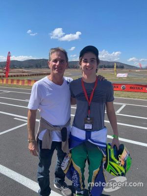 Felipe Giaffone e o filho Nicolas